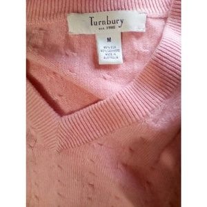 Turnbury Sweaters - Turnbury Sweater Pullover Sz M Pink Silk Cashmere